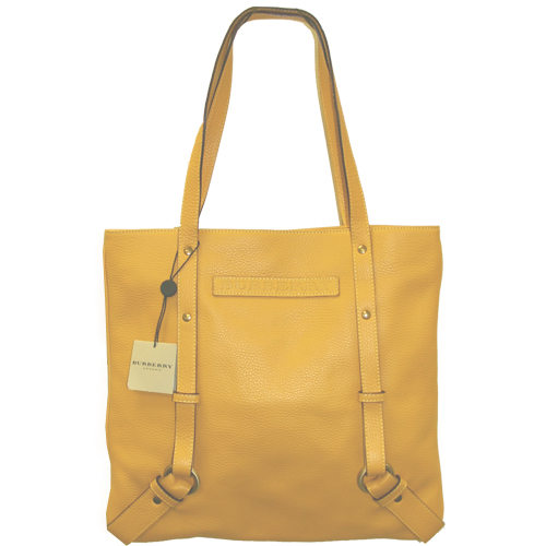 Burberry Leather Rebecca Large Tote - Yellow
