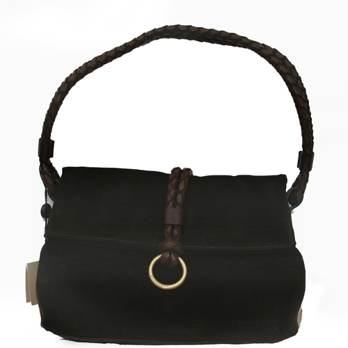 Burberry SMAGADIR2 Suede Small Tote - Brown