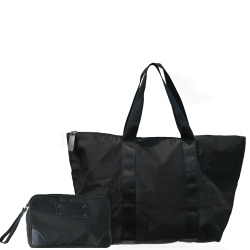 Burberry Shelton Nylon Duffle Bag - Black