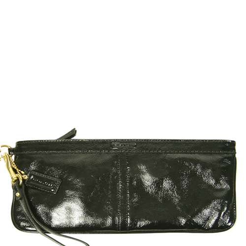 Coach 12926 Patent Leather Clutch - Black