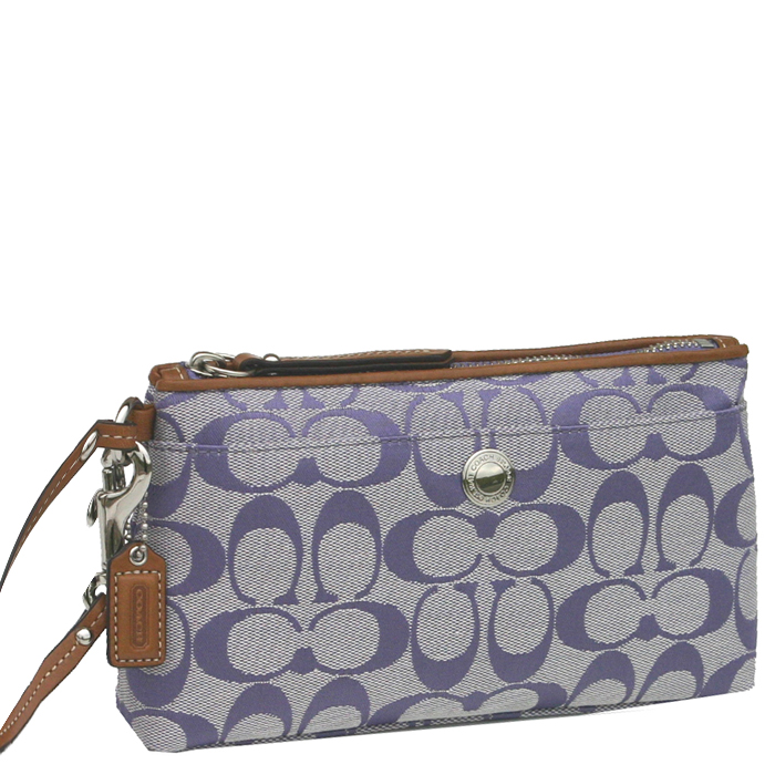 Coach 42537 Signature Clutch Wristlet Wallet - Lil