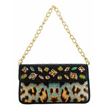 Christian Audigier Janis Drop-in Chain Handbag - B