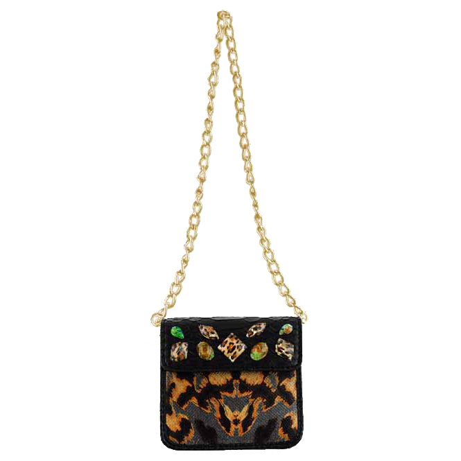 Christian Audigier Julie Chain Link Mini Handbag -