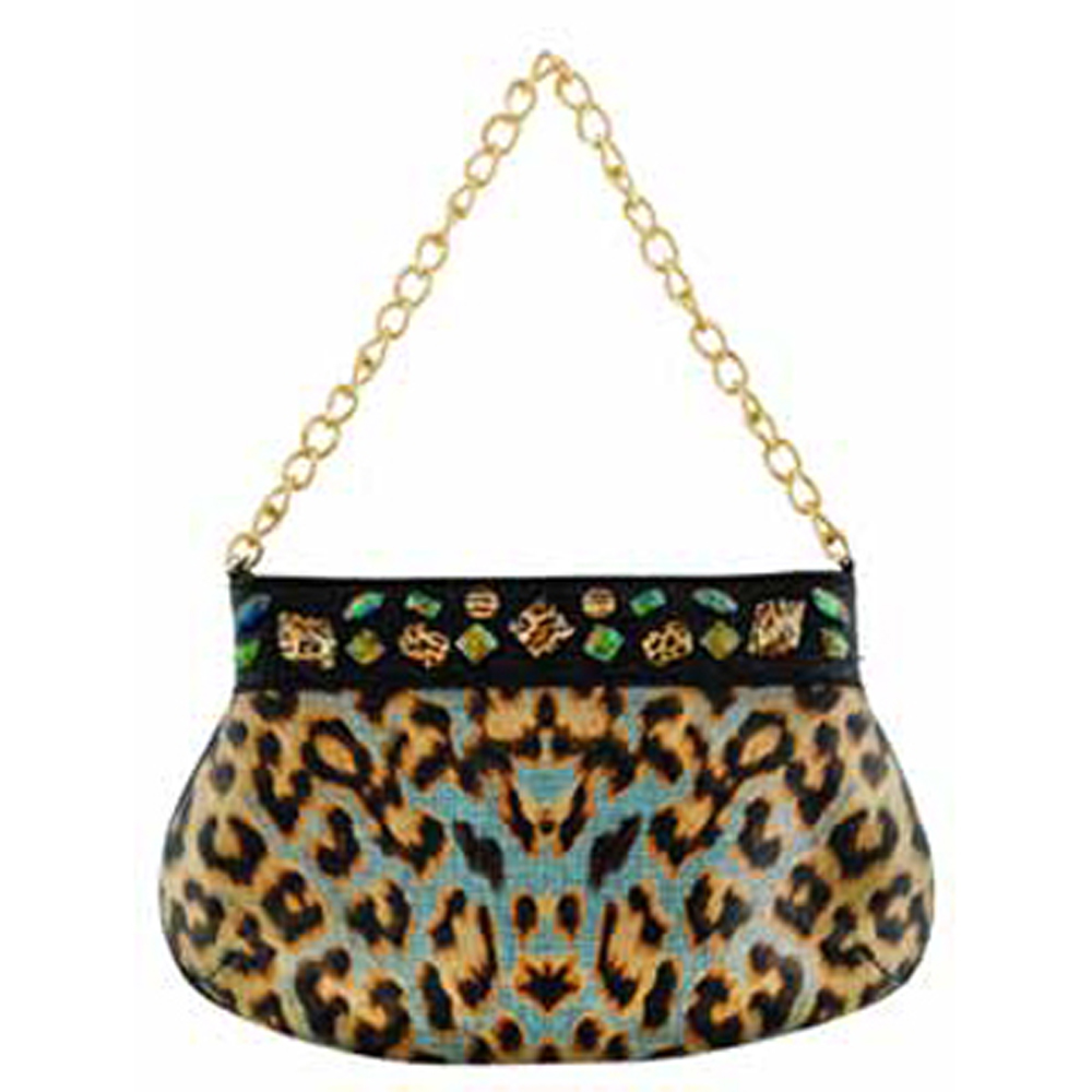 Christian Audigier Samantha Chain Link Handbag - B