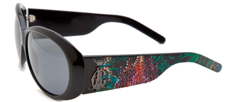 Christian Audigier CAS 410 Broken Heart Sunglasses - Black