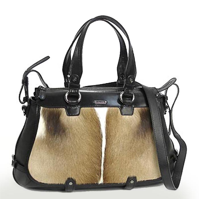Celine Lirine Pony Hair Large Handbag - Brown