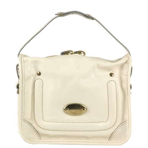 Chloe 7EP104 Leather Pouch - Cream