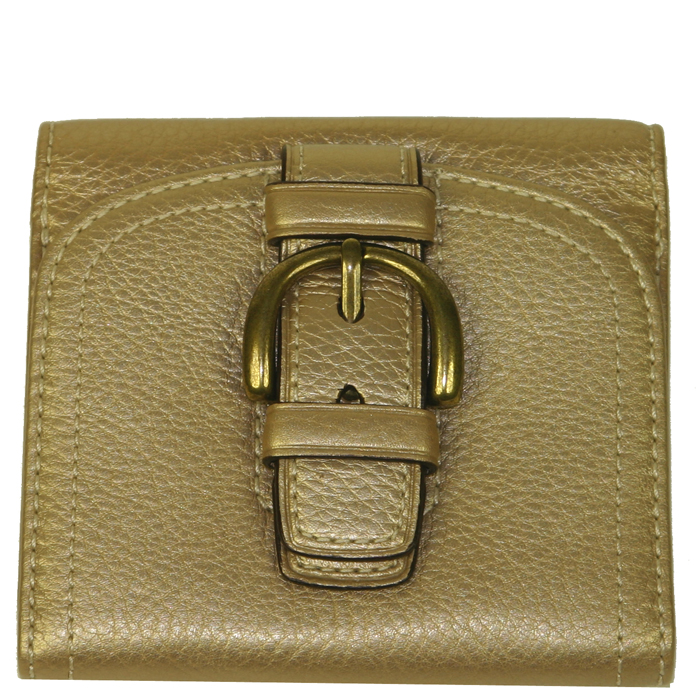 Coach 42043 Slim Envelope Leather Wallet - Gold