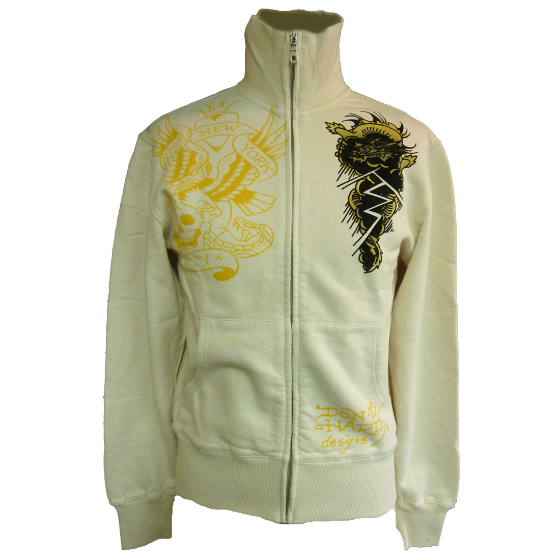 Ed Hardy Mens NYC Track Jacket- Steel
