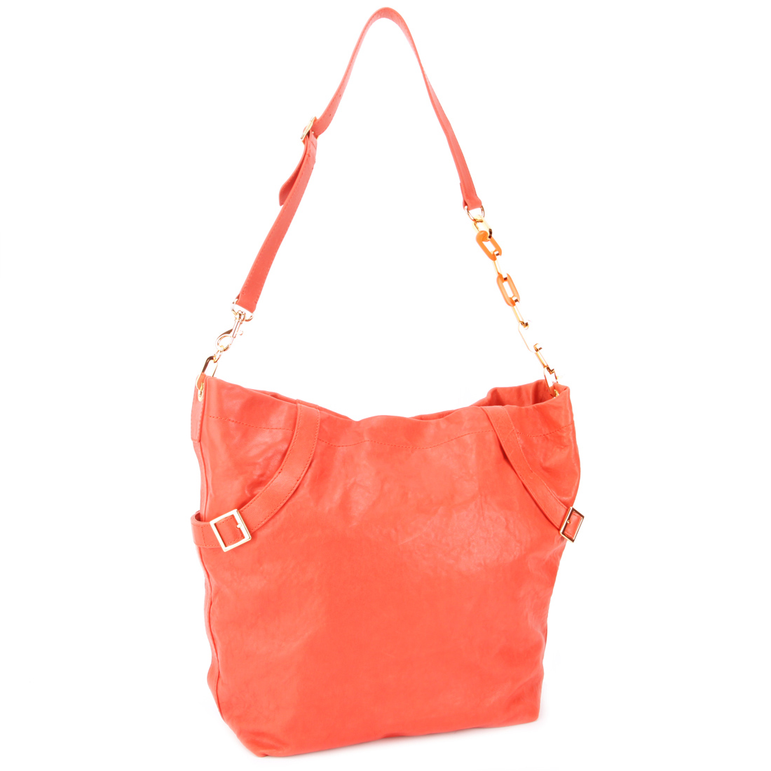 Juicy Couture Large Hobo Handbag-Coral