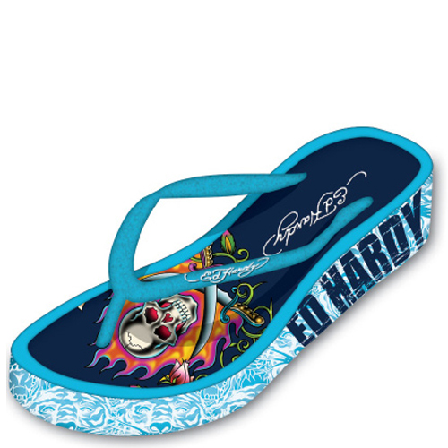 EH19SKM103 Ed Hardy Flip Flop and Belts