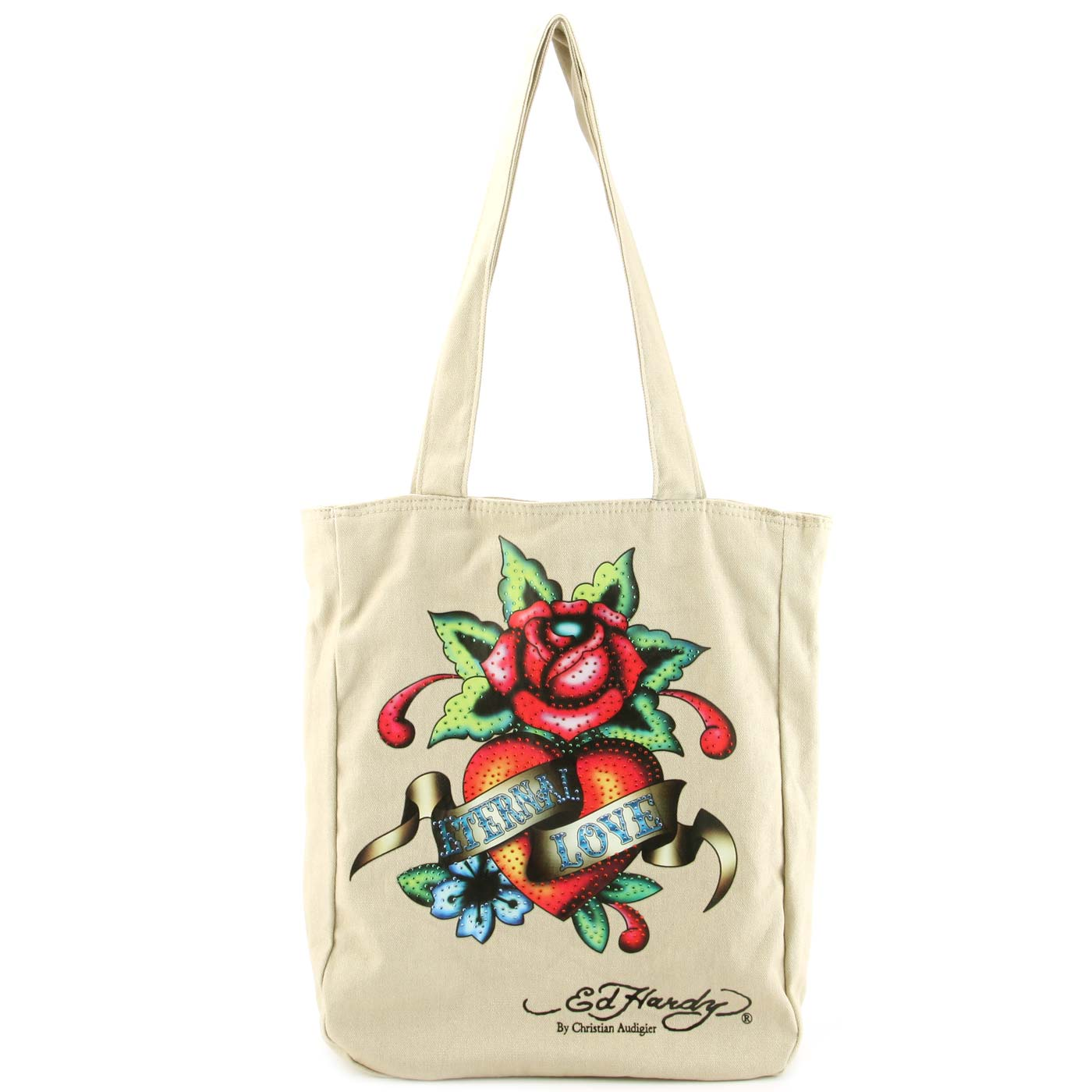 Ed Hardy Ness Eternal Love Kids Tote - Beige