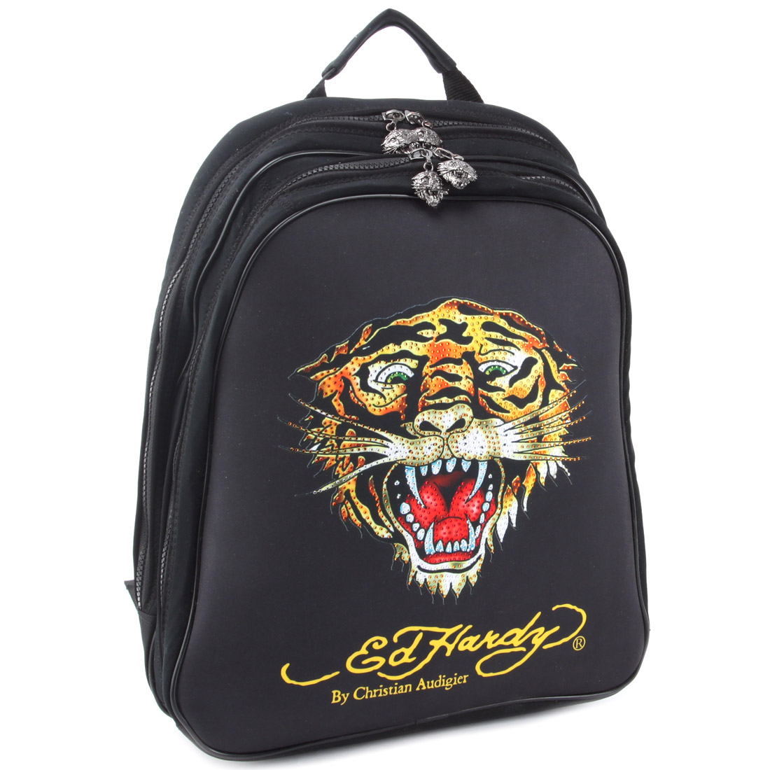 Ed Hardy Nina Tiger Computer Backpack - Black