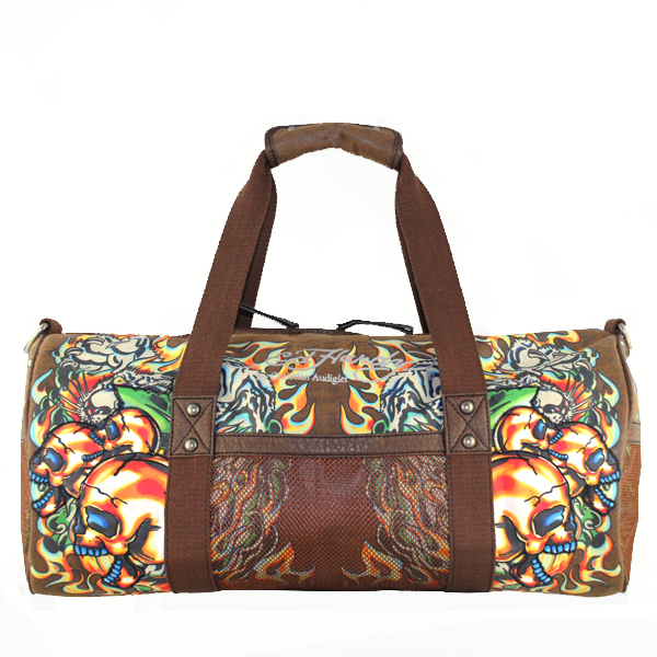 Ed Hardy Canon Duffel Gym Handbag - Brown