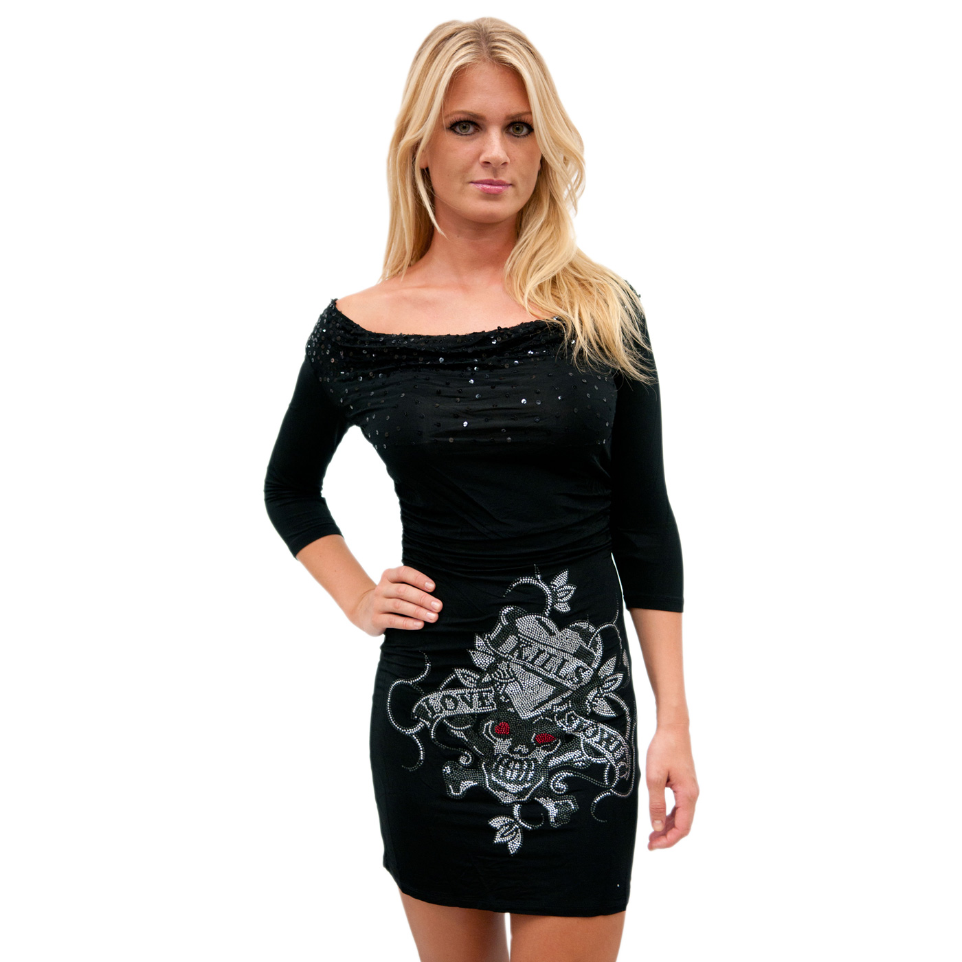 Ed Hardy Womens Twinky Black Dress