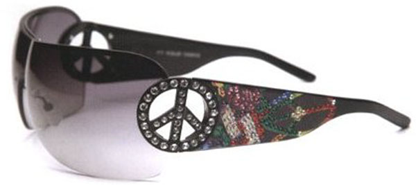 Ed Hardy EHS-027 Pin UP2 Graphics Sunglasses - Bla