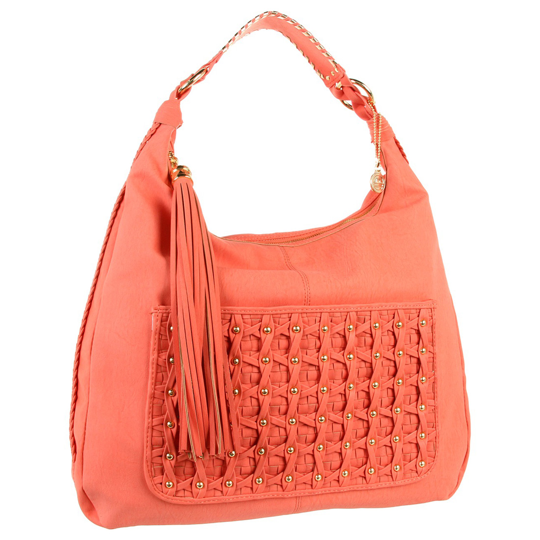 Big Buddha Finley Hobo Bag- Coral