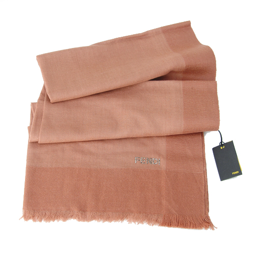 Fendi Knitted Wool/Silk Pashmina Scarf - Pink