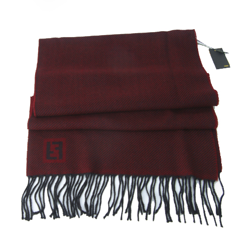 Fendi Zebra Pattern Wool Scarf - Red
