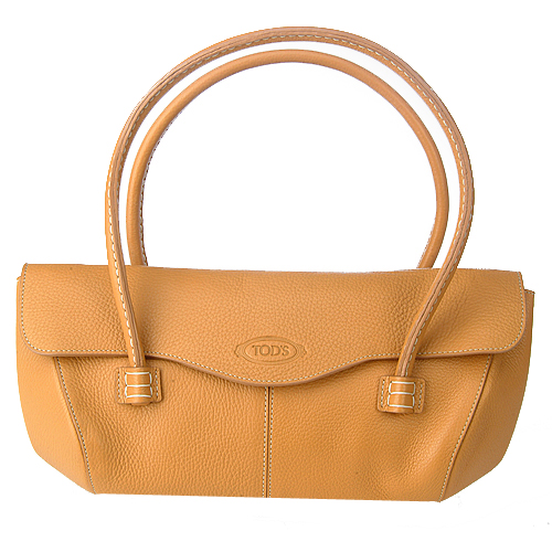 JP Tods Corniche Wave Eastwest Handbag - Camel