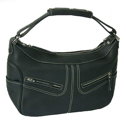 JP Tods Micky Bag Large Calfskin Handbag - Black