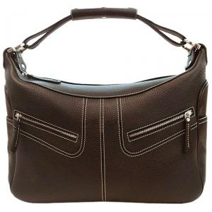 JP Tods Micky Bag Large Calfskin Handbag - Chocola