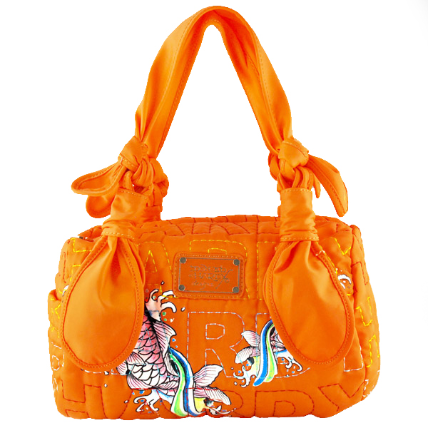 Hardy Jill Nylon Satchel Bag from Ed Hardy KIO San Collection | The Shopping Bowl from theshoppingbowl.com