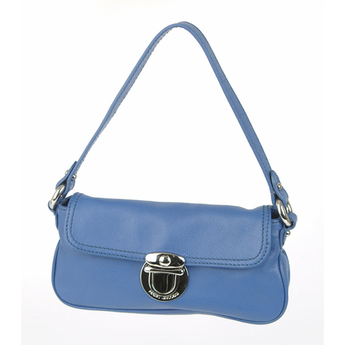 Louise Leather Hand Bag - Blue