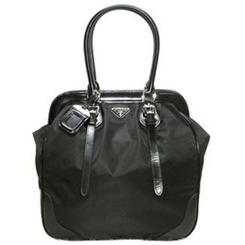Prada BR3511 Tessuto Large Doctor Bag - Black