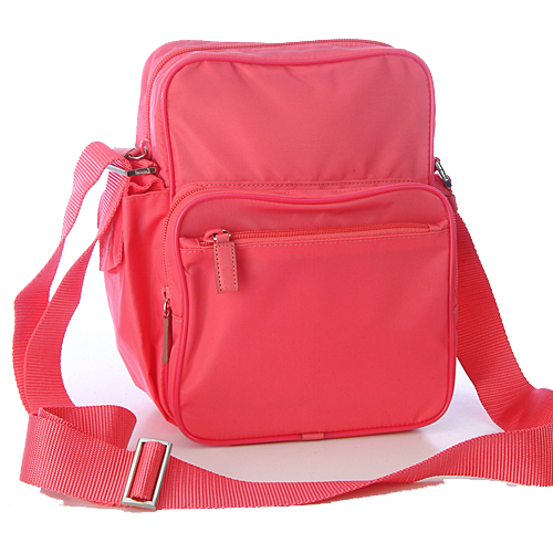 Prada V406 Tessuto Small Messenger Bag - Hot Pink