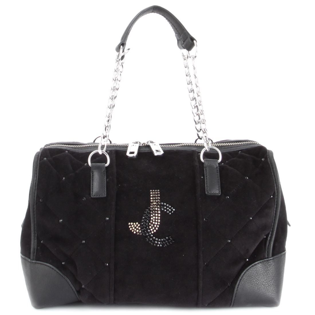 Juicy Couture Steffy Quilted Handbag-Black