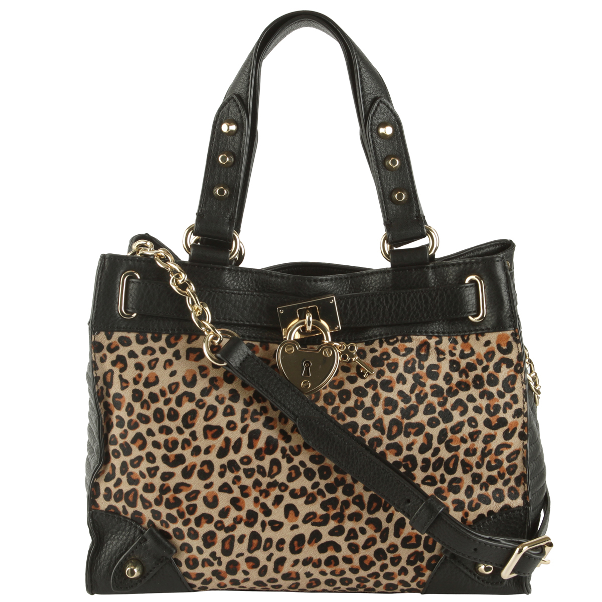 Juicy Couture Robertson Haircalf Leather Mini Daydreamer Bag-Black