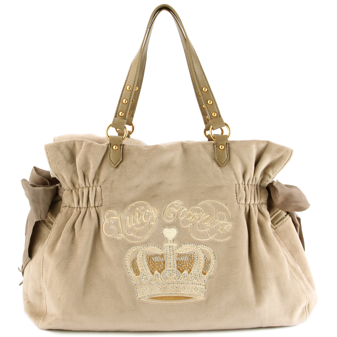 Juicy Couture Crown Large Daydreamer Handbag-Beige