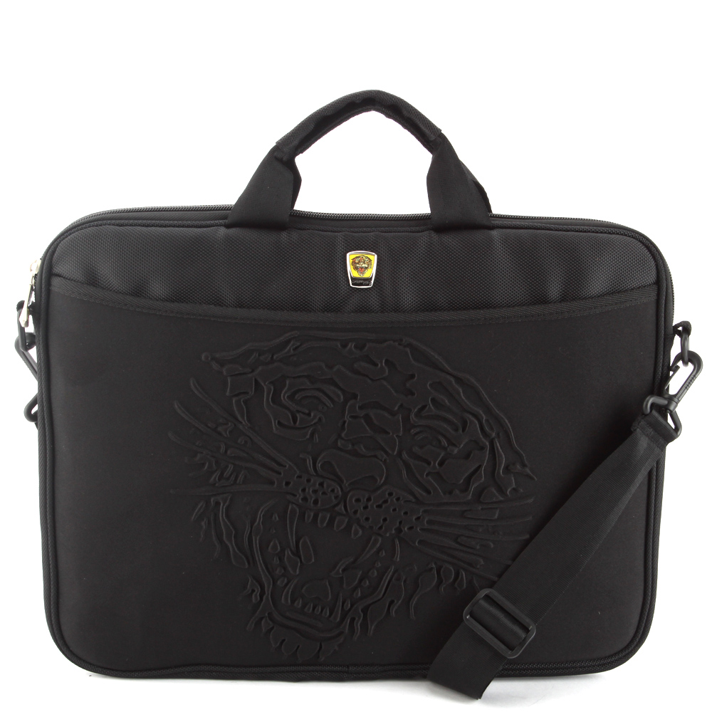 Ed Hardy Tiger Embossed Computer Bag - Black