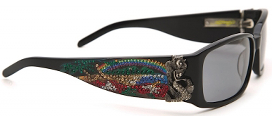 Ed Hardy EHS-029 Mermaid Sunglasses - Black/Gray