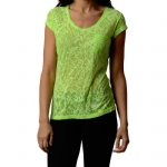New Balance Essential Branch Burnout V Neck T-Shirt - Green Gecko