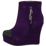 Ed Hardy Sydney Ankle Heels Boot - Purple