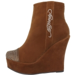 Ed Hardy Sydney Ankle Heels Boot - Brown