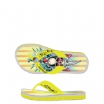 Ed Hardy Flip Flop Beach Comber Sandal for Women - Yellow