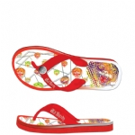 Ed Hardy Flip Flop Okinawa Sandal for Womens - Red