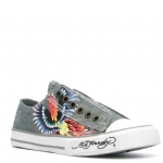 Ed Hardy Lowrise Bangkok Sneaker for Women - Grey