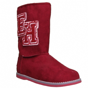 Ed Hardy University Boots for Kids -Burgundy - The Ed Hardy�University Boots�For Kids is a popular casual�boot and is part of the Ed Hardy Shoe Collection.�Trendy and comfortable�Boots with authentic Ed Hardy Tattoo images.�It features��Suede upper logoed boot from Ed Hardy. It's a trendy match for the season's skinny jeans, leggings and tunic-and-tights ensembles