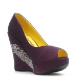 Ed Hardy Camden Wedge Shoe - Purple