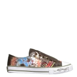 Ed Hardy Lowrise Jupitar Sneaker for Women - Military