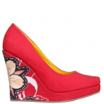 Ed Hardy Ophelia Wedge Shoe - Red