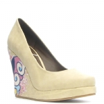 Ed Hardy Ophelia Wedge Shoe - Off White
