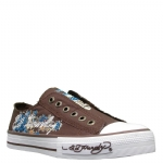 Ed Hardy Lowrise Starlight Shoe for Women -Brown