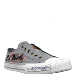 Ed Hardy Lowrise Starlight Shoe for Women -Grey