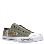 Ed Hardy Lowrise Starlight Shoe for Women -Military