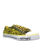 Ed Hardy Lowrise Benoit Sneakers for Women- Yellow